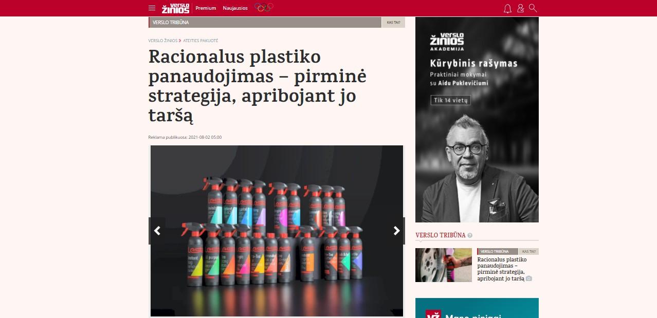 Racionalus plastiko panaudojimas – pirminė strategija, apribojant jo taršą